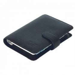 LEATHER ORGANISER BLACK
