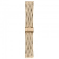 Watchstrap steel gold/pink